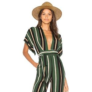 Faithfull deep V jumpsuit